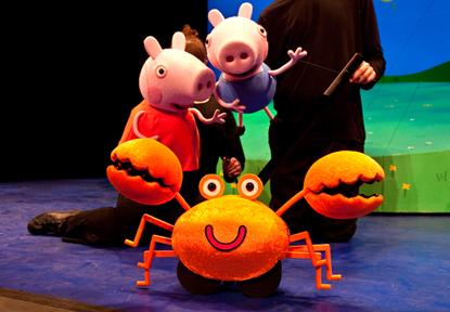espectaculo musical peppa Pig la busqueda del tesoro