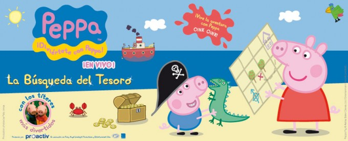 espectáculo Peppa Pig la busqueda del tesoro
