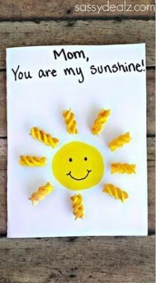 tarjeta de felicitacion DIY para el día de la madre