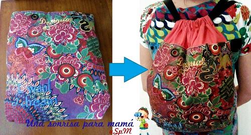 Transformar bolso en mochila
