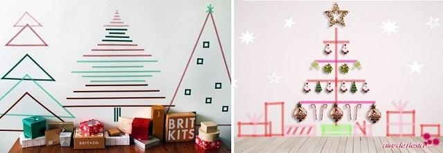 árboles de navidad de washi tape o cintas