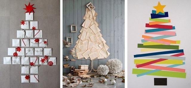 árbol de navidad hecho con cartulina hojas de libro folios