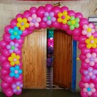 globos con forma de flor