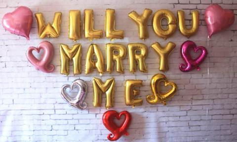 pedir matrimonio con globos