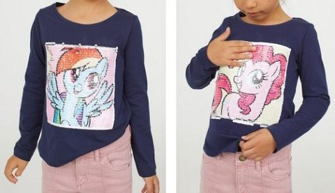 camiseta dibujo cambia little pony