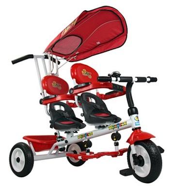 triciclo gemelar para mellizos